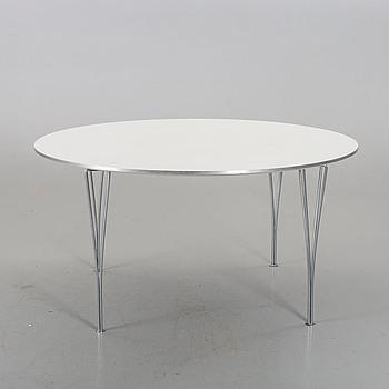 A TABLE BY BRUNO MATHSSON, PIET HEIN & ARNE JACOBSEN FOR FRITZ HANSEN.