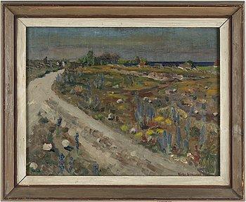 BIRGER LJUNGQUIST, olja på pannå, signerad och daterad 1928.
