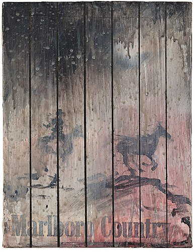 "Richard hambleton, ""marlboro country""."