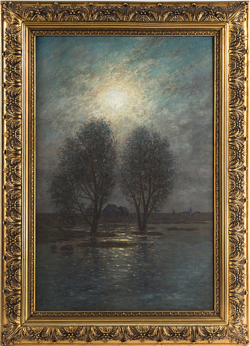 Per ekstrÖm, oil on canvas, signed