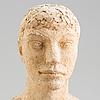 Asmund arle, skulptur, terrakotta, signerad a. arle