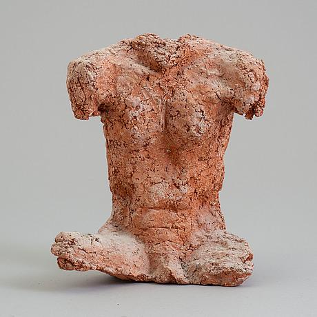 Asmund arle, skulptur, terrcotta, signerad a. arle