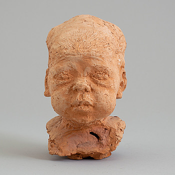 ASMUND ARLE, Skulptur, terracotta, signerad A. Arle och numrerad 4/5.