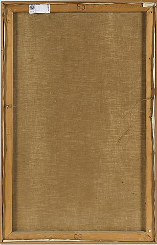 Hans viksten, oil on canvas, signed.