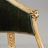 Karmstolar, ett par, av ephraim ståhl (mästare i stockholm 1794 1820), sengustavianska