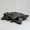 Asmund arle, sculpture, bronze, signed a. arle