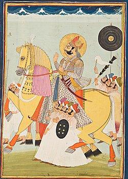 OKÄND KONSTNÄR, gouache på papper. Indien, sent 1800-tal.