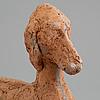 Asmund arle, skulptur, terracotta, signerad asmund arle och daterad 1952