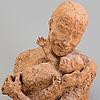 Asmund arle, skulptur, terracotta, signerad asmund arle och daterad  71