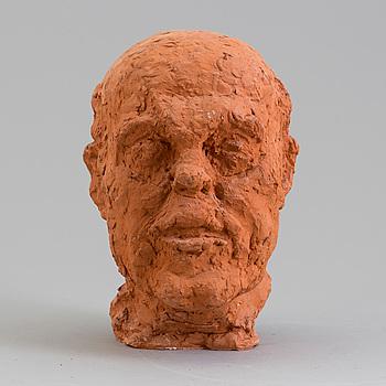 ASMUND ARLE, Skulptur, terracotta, signerad Asmund Arle och daterad 1977.