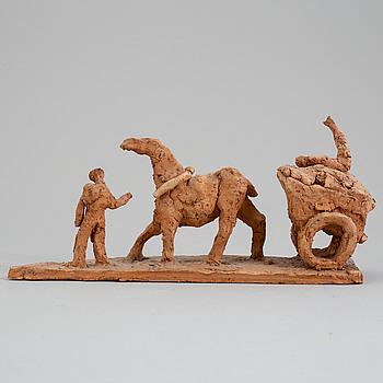 ASMUND ARLE, Skulptur, terracotta, signerad Asmund Arle och daterad 1952.
