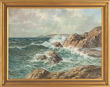 LEONARD WIEDH, oil on canvas, signed, circa 1900.