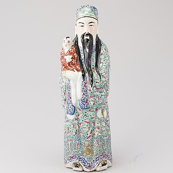 A mid 20th Century Chinese ceramic sculpture.