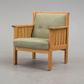 An oak easy chair from Hedbergs i Vinslöv, mid/late 20th century.