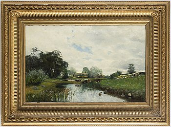 OLOF KRUMLINDE, oil on canvas, signed and dated (18)82.