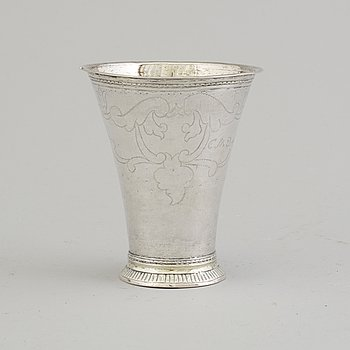 ERIK LEMON, bägare, silver, Uppsala 1772.