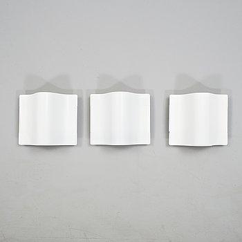 BÖRGE LINDAU & BO LINDECRANTZ, three wall lights from Zero, 1980's/90's.