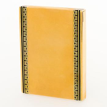 A CARTIER CIGARETTE CASE, 18K gold, enamel. France, 1920s.