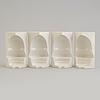 A set of four sivert lindblom plastic items, 1968.