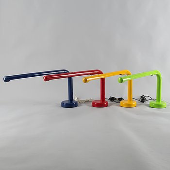 "A set of four ""Tube"" lamps, designed by Anders Pehrson for Ateljé Lyktan in Åhus, launched 1973."