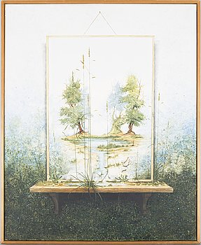 JOHN RIDGEWELL, oil on canvas, signed.