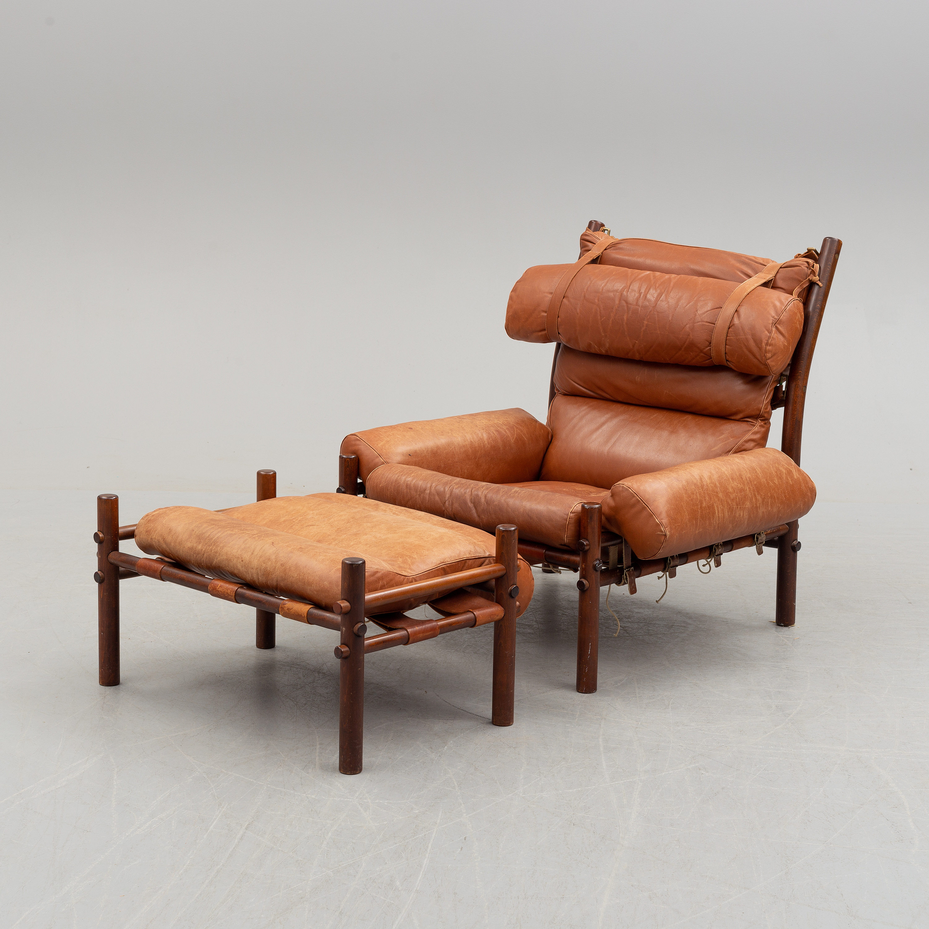 Superb Arne Norell An Inca Stained Beech Easy Chair And Ottoman Dailytribune Chair Design For Home Dailytribuneorg