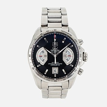 "TAG HEUER, Grand Carrera, Chronometer, ""Tachymetre"", chronograph, wristwatch, 43,5 mm."