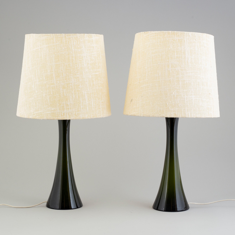 Auktionstipset BERNT NORDSTEDT Bordslampor, ett par, glas