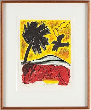 BEVERLOO CORNEILLE, färglitografi, signerad och numrerad 192/200, daterad 1986.