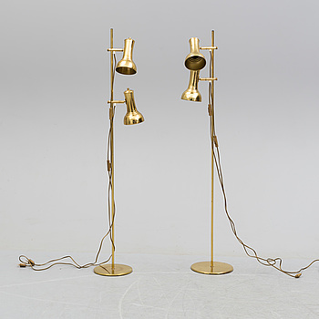 two floor lights from the second half of the 20th century.
