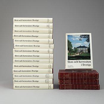 BÖCKER 18 VOLYMER,, 18 volymer, Svenska Slott och Herresäten, Allhems Förlag, Malmö, 1966-71.