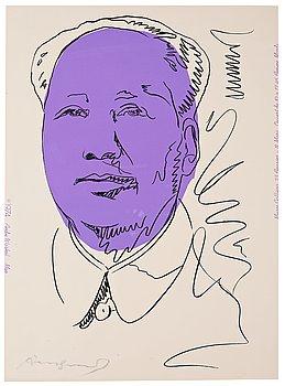 """323. Andy Warhol, """"Mao""""."""