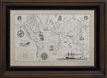 """""""The Royal Geographical Society Silver Map""""."""