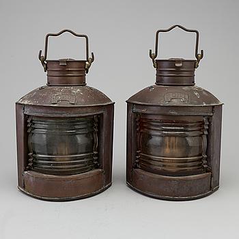 LANTERNOR, 2 stycken, 1900-talets första hälft.