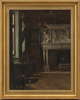 HULDA SCHENSON, olja på duk, signerad och daterad Paris 1896.