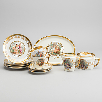 KAFFESERVIS, 27 delar Royal Copenhagen porslin 1900-talet andra hälft.