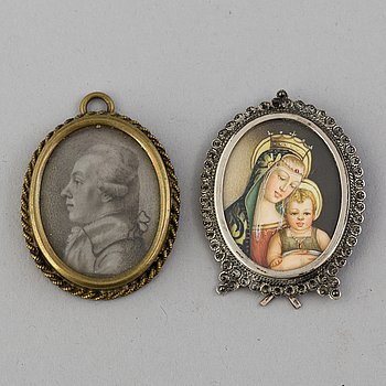 TWO FRAMES, 18TH/19TH CENTURY.