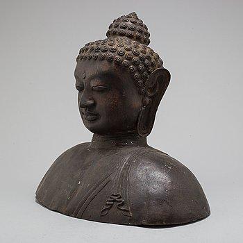 SKULPTUR, Buddha, brons, 1900-tal.