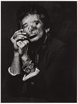 "221. Albert Watson, ""Keith Richards, New York City, 1998""."