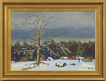 FOLKE PERSSON, oil on canvas, signed.