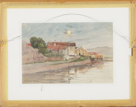 Anna Gardell Ericson Two Watercolor In One Frame One Signed Both