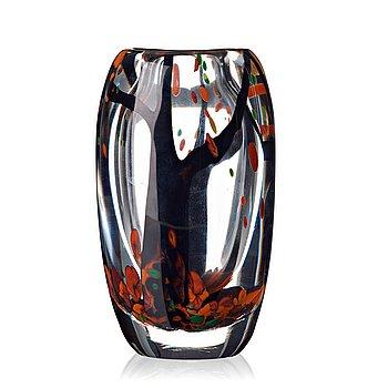 "11. Vicke Lindstrand, an ""Autumn"" glass vase, Kosta 1950's."