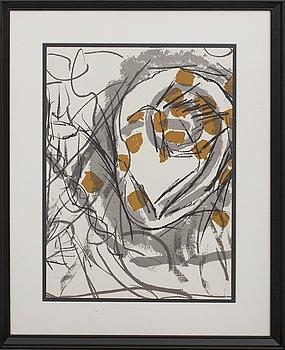 JEAN-PAUL RIOPELLE, färglitografi, ur Derrière le Miroir nr 208 1974.