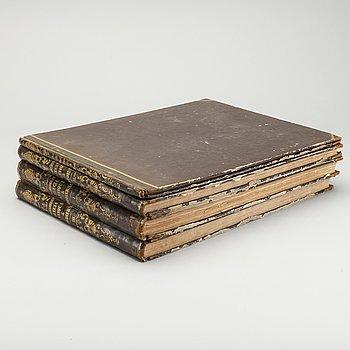 "ERIK DAHLBERGH, ""Suecia Antiqua et Hodierna"", 4 delar, Stockholm, Huldbergs bokhandel, 1856,"