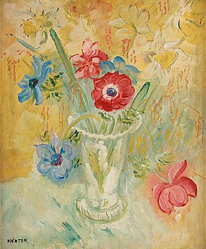 434. Sigrid Hjertén, A still life with flowers.