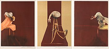 """316. Francis Bacon, """"Second Version of Triptych 1944, (Small Version)""""."""
