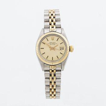 ROLEX armbandsur dam stål och guld Oyster Perpetual Date 26 mm.
