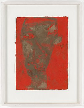 JAMES BROWN, mixed media on paper, signed James Brown and dated 1986.