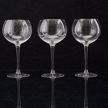 GLAS, 3 st, för STENINGE SELECTED ARTIST.