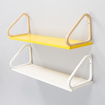 ALVAR AALTO, Two late 20th century shelves for Artek.